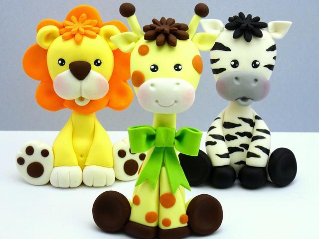 Safari cake toppers