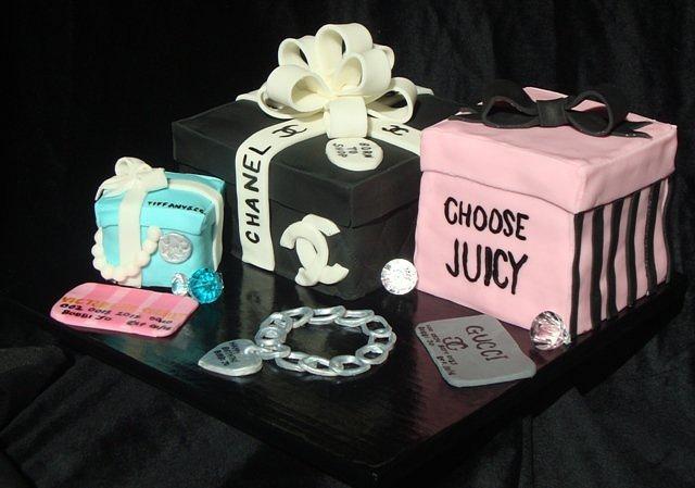 Girly Shopping Birthday Cake