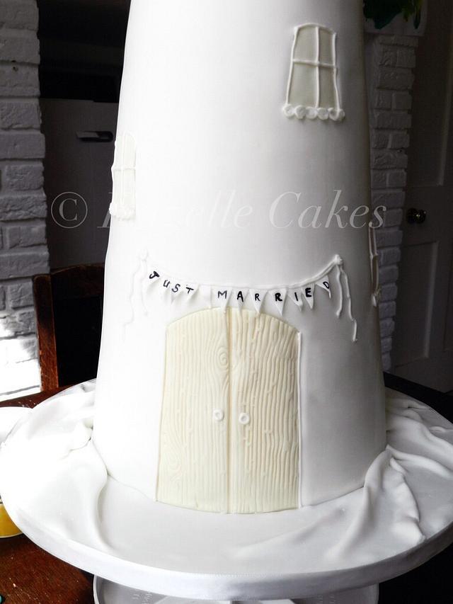 Windmill wedding cake