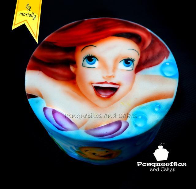 Airbrush Cake: La Sirenita