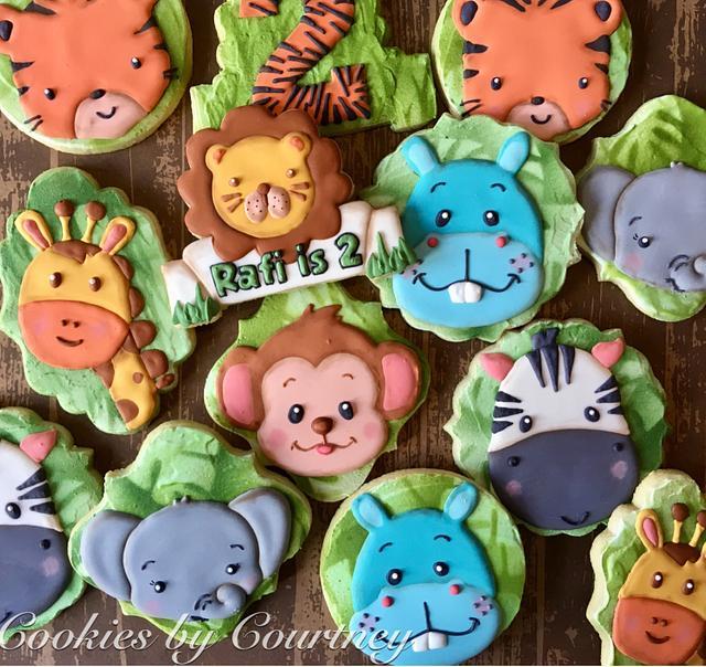 Jungle Theme Birthday Cookies