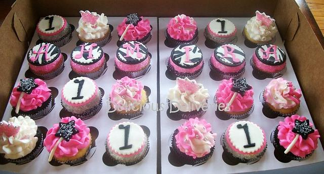 Zebra Princess Cupcakes