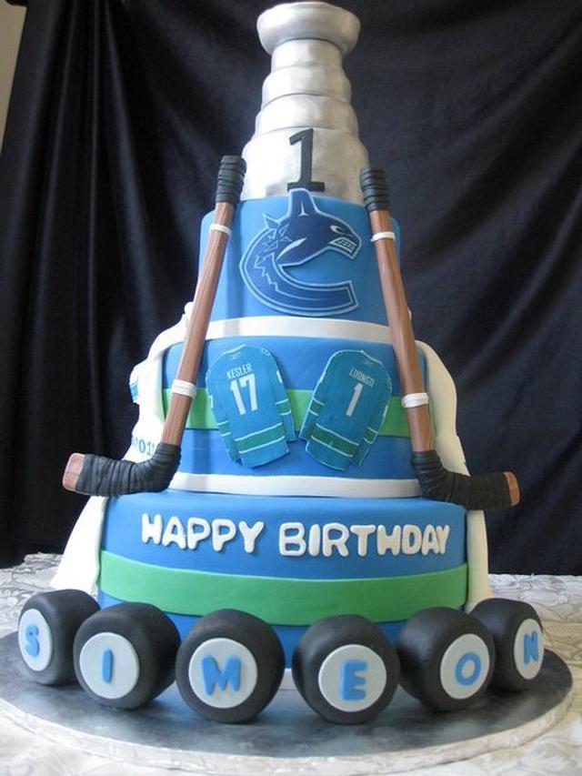 Canucks cake