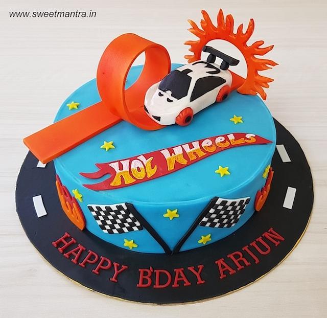 Phenomenal Hot Wheels Cars Theme Customized Fondant Cake For Cakesdecor Funny Birthday Cards Online Chimdamsfinfo