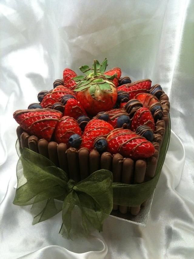 Fruit top cake