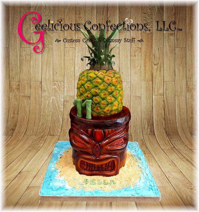 Tiki themed cake
