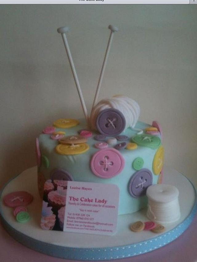 Mother's Day knitting cake