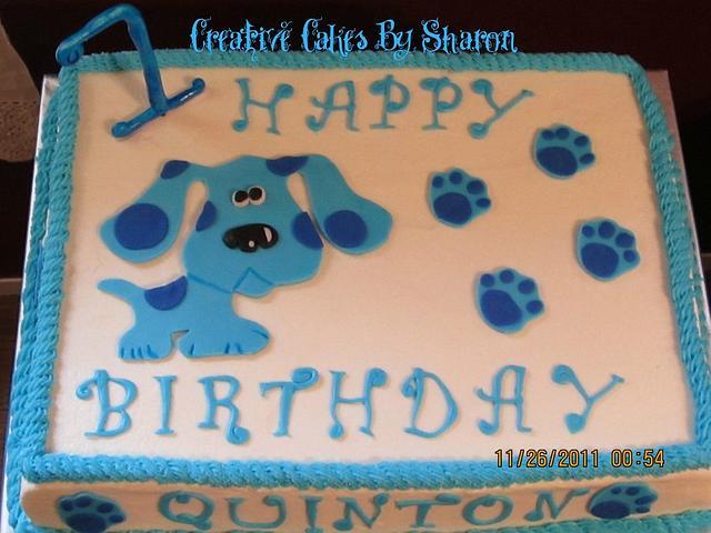 Super Blues Clues First Birthday Cake Cake By Sharon Lane Cakesdecor Personalised Birthday Cards Fashionlily Jamesorg