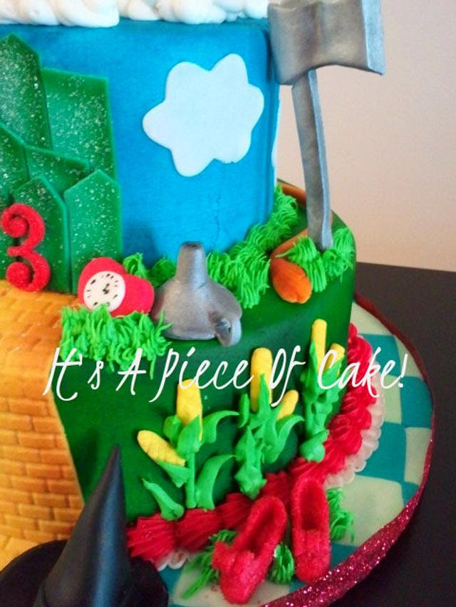Wizard of Oz Cake Buttercream Icing, Fondant Accents