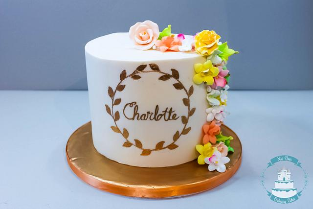 Fabulous Spring Birthday Cake By Not Your Ordinary Cakes Cakesdecor Funny Birthday Cards Online Alyptdamsfinfo