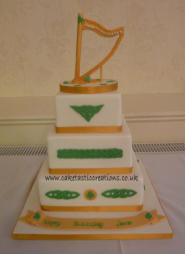 Prime Irish Themed Birthday Cake Cake By Caketastic Creations Cakesdecor Personalised Birthday Cards Veneteletsinfo