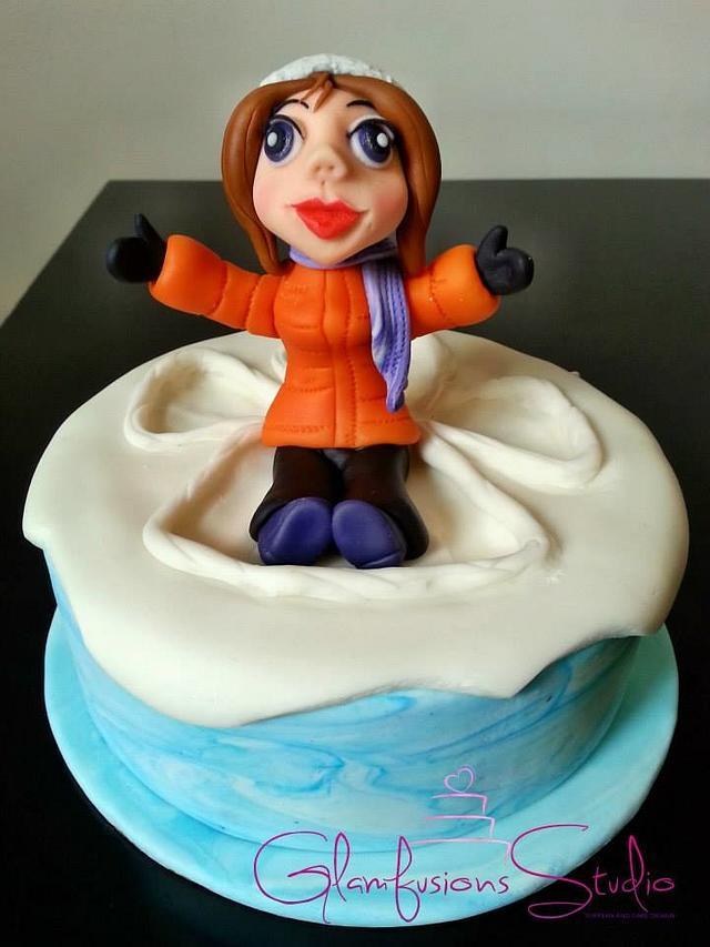 Snow Angel Cake By Marifini Cakesdecor