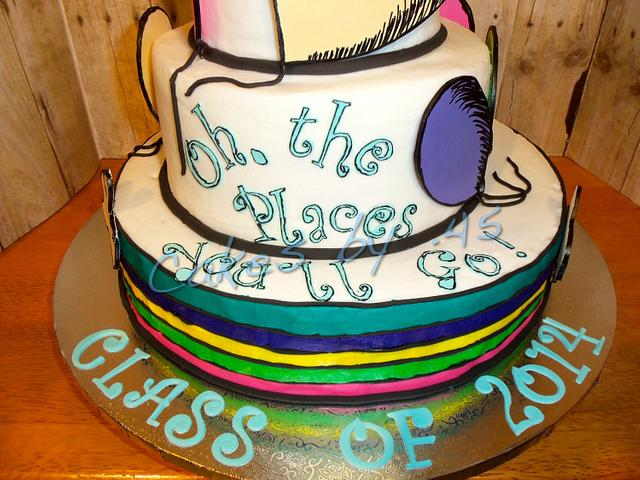 Oh, The Place's You'll Go! Graduation Cake