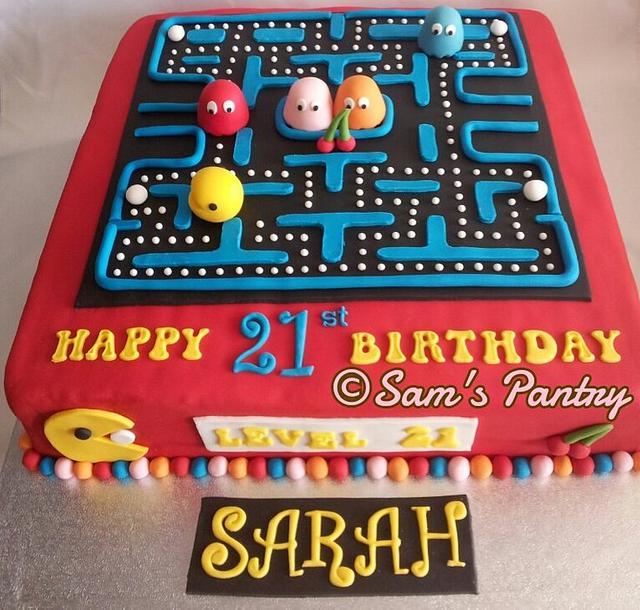 Phenomenal Pacman Cake By Ashling Cakesdecor Funny Birthday Cards Online Alyptdamsfinfo