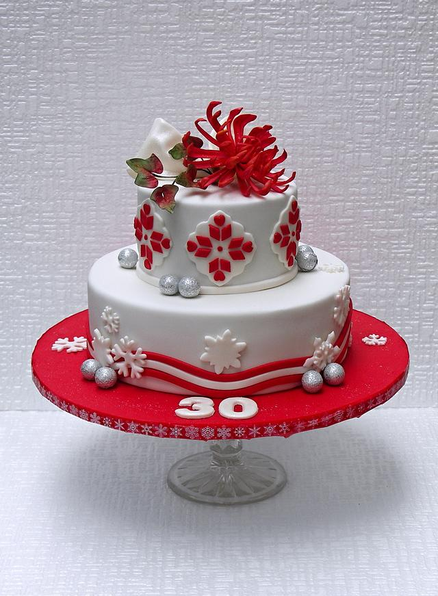 Brilliant Winter Birthday Cake Cake By Bezana Cakesdecor Funny Birthday Cards Online Eattedamsfinfo