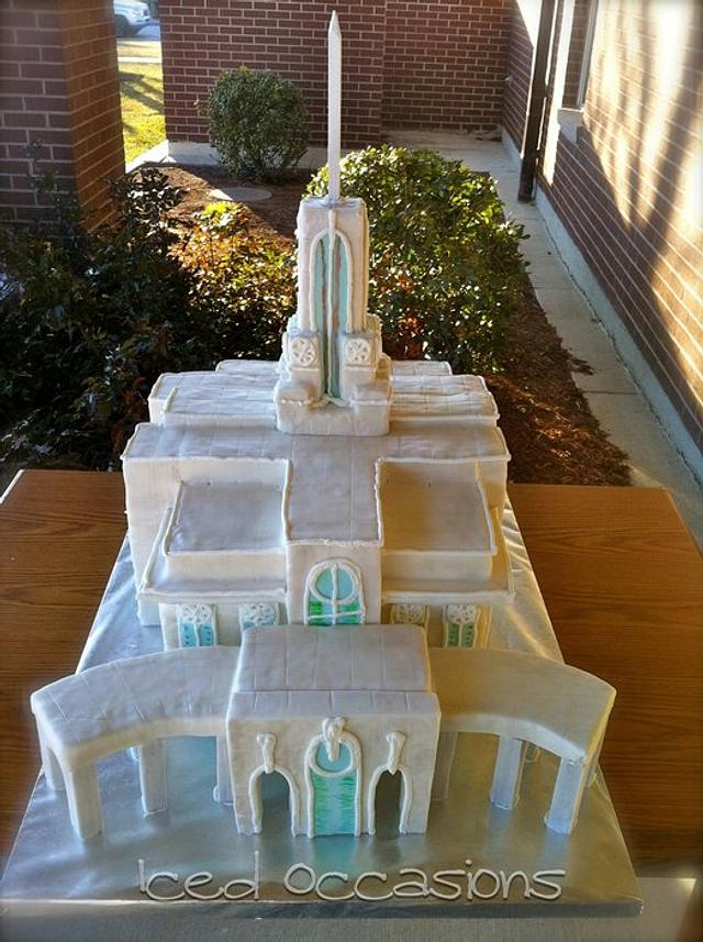 Sculpted Temple Cake
