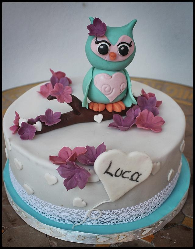 Excellent Owl Birthday Cake Cake By Lamputigu Cakesdecor Funny Birthday Cards Online Elaedamsfinfo