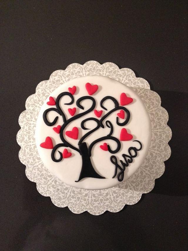 Love tree cake