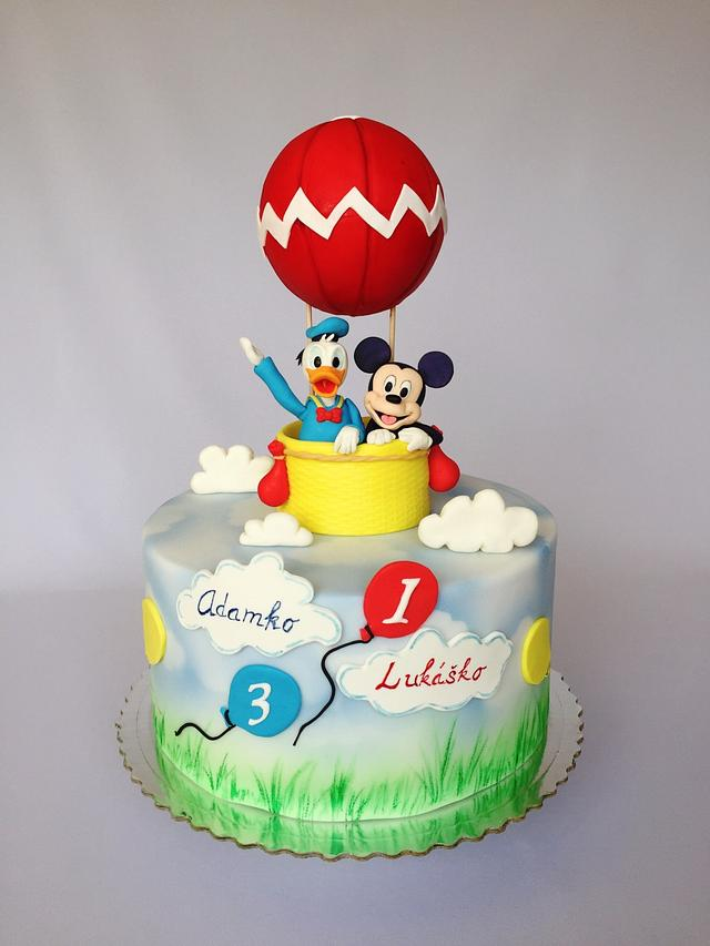 Phenomenal Mickey Mouse Donald Duck Birthday Cake Cake By Layla Cakesdecor Funny Birthday Cards Online Alyptdamsfinfo