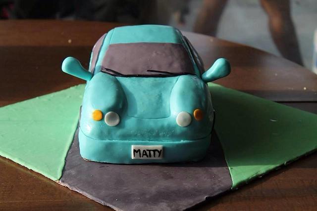 Matty's Car birthday cake!