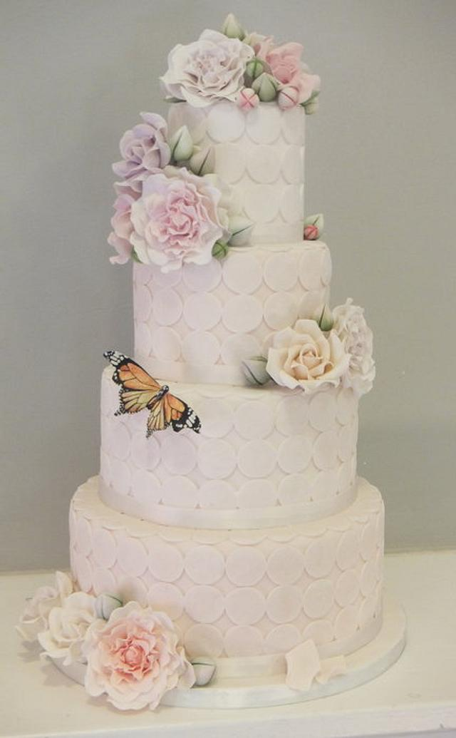 Spring themed wedding cake