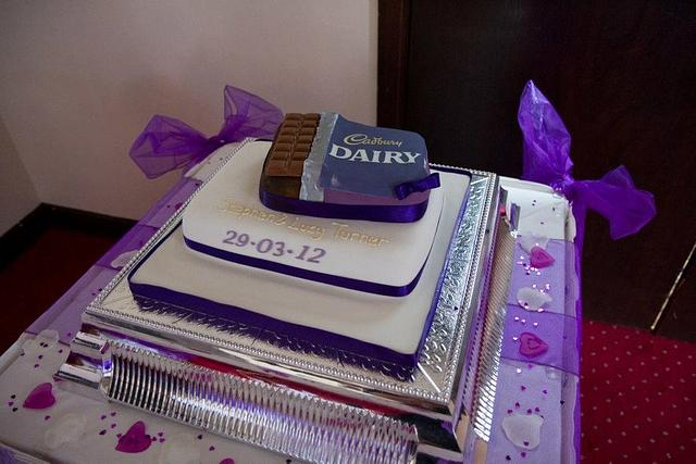 Dairy Milk Wedding Cake
