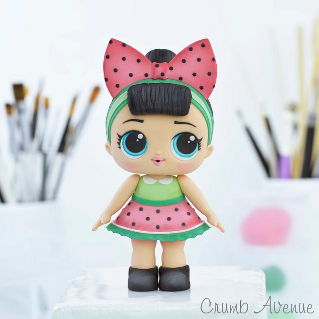 Cute Doll Cake Topper