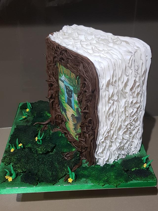 Warriors Book Cake