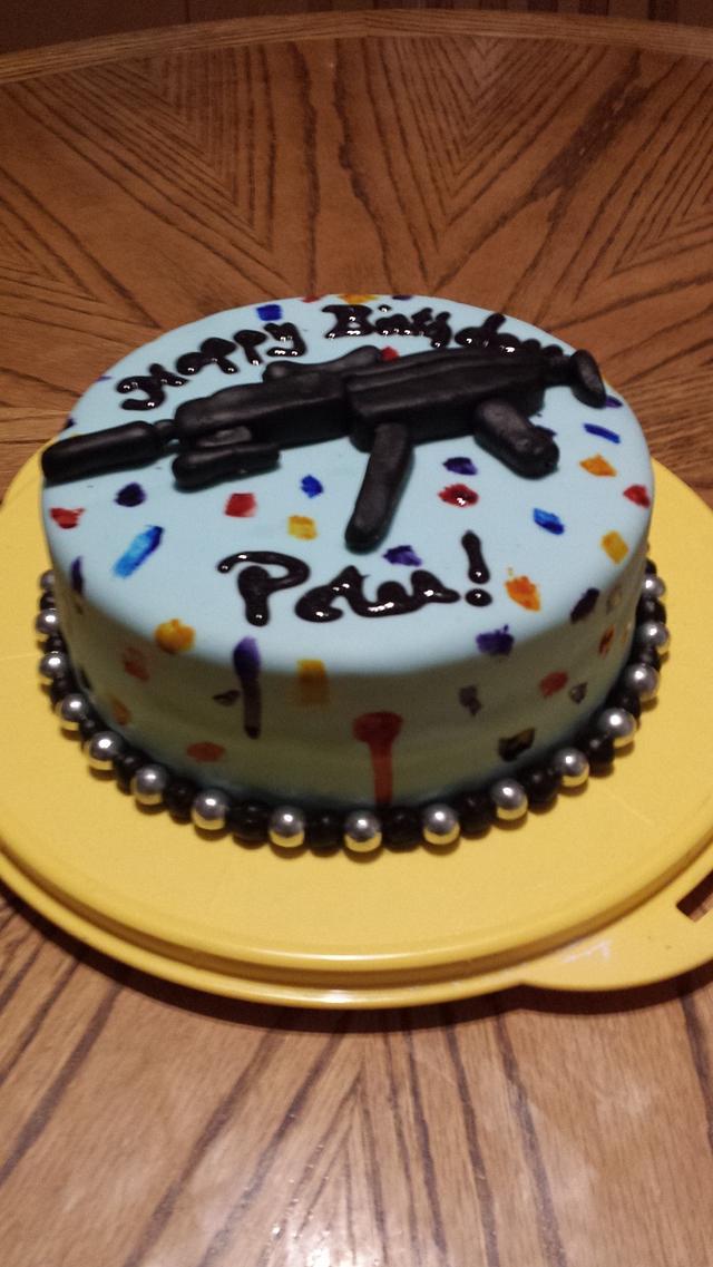 Pleasing Paintball Gun Birthday Cake Cake By Cakes By J Cakesdecor Birthday Cards Printable Giouspongecafe Filternl