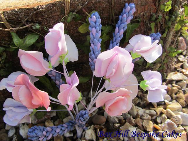 Sweet pea Lavender & Carnations.