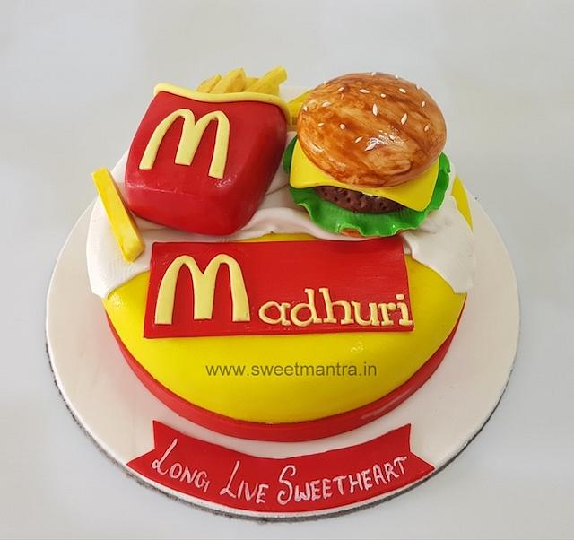Tremendous Mcdonalds Fast Food Burger And Fries Theme Cake For Cakesdecor Birthday Cards Printable Nowaargucafe Filternl