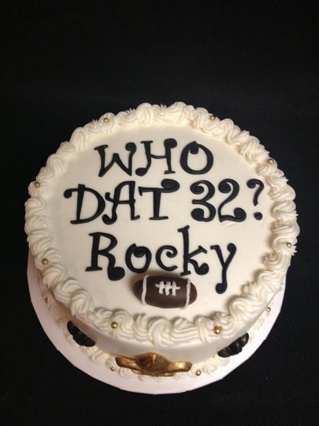 Astonishing Saints Who Dat Birthday Cake Cake By Melissa Cakesdecor Personalised Birthday Cards Beptaeletsinfo