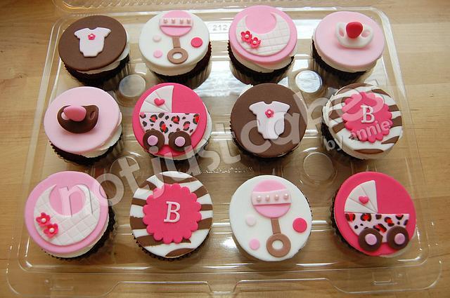 Sassy Baby Shower Cupcakes