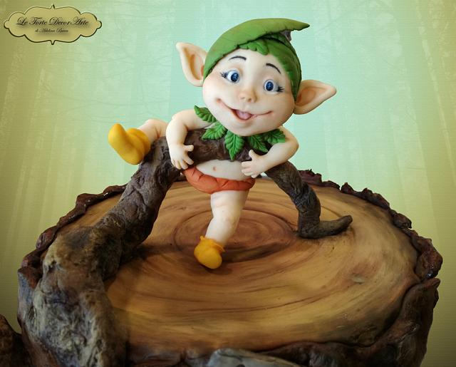 Little elf and his enchanted forest house