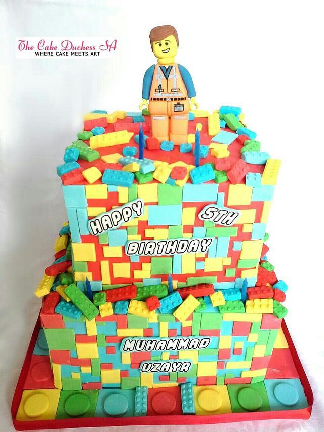 Excellent Lego Themed Birthday Cake Cake By Sumaiya Omar The Cakesdecor Funny Birthday Cards Online Fluifree Goldxyz