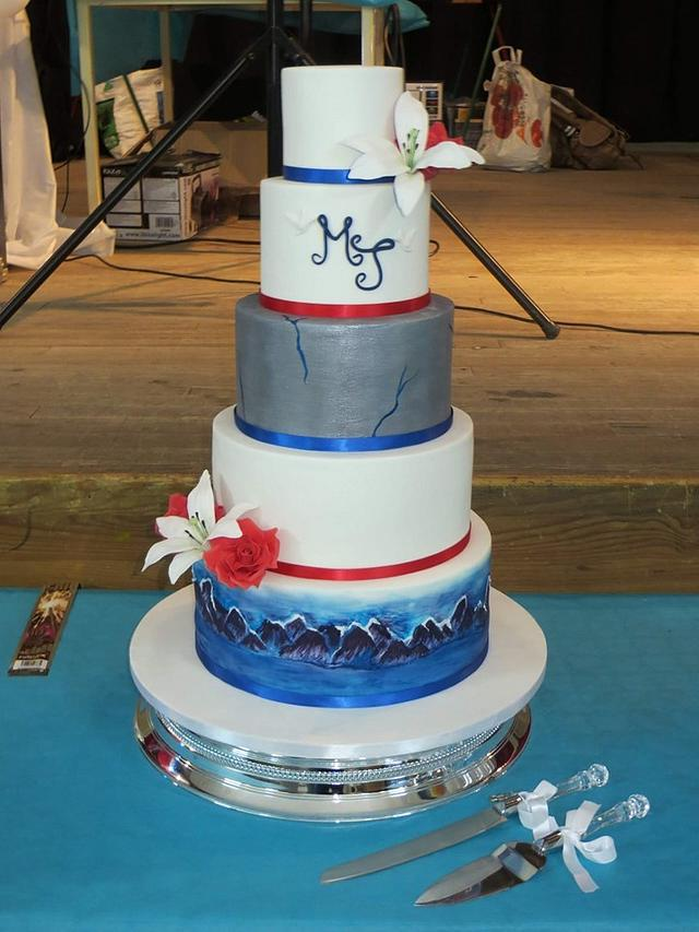 Grey Goose vodka wedding cake