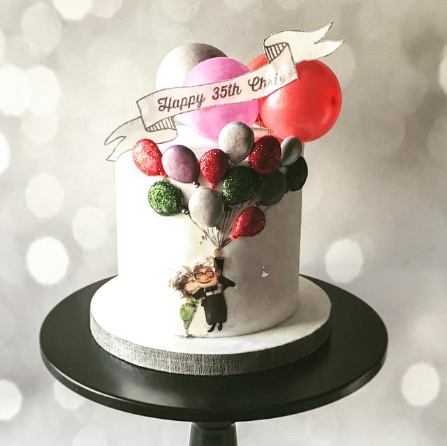 Wondrous Up Movie Themed Birthday Cake Cake By Sweetartstories Cakesdecor Funny Birthday Cards Online Alyptdamsfinfo