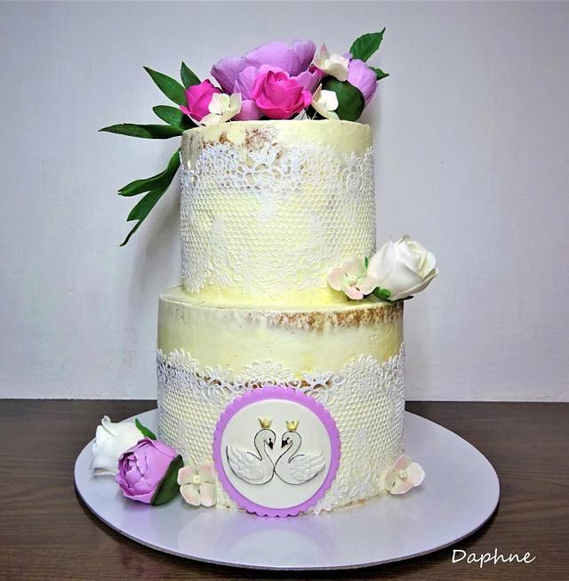 Wedding cake - naked