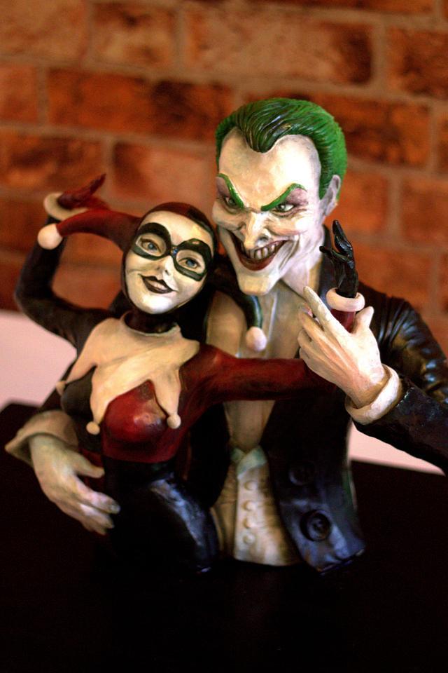 The Joker & Harley Quinn Chocolate Sculpture - Full video available