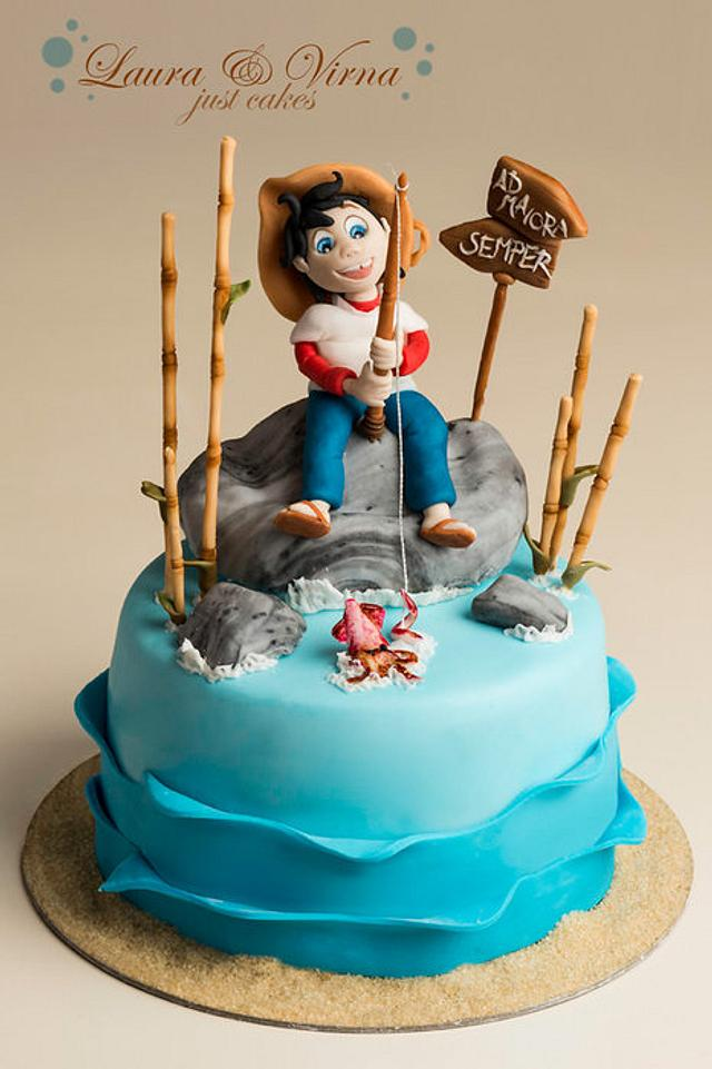 Sampei the fisherman cake