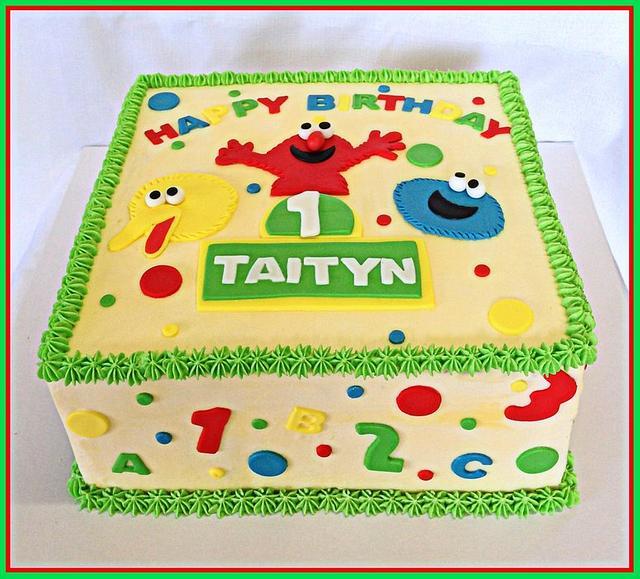 Strange Sesame Street 1St Birthday Cake By Nicki Sharp Cakesdecor Funny Birthday Cards Online Alyptdamsfinfo