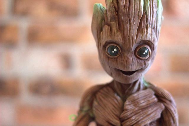Guardians of the Galaxy Baby Groot 3D Sculpture