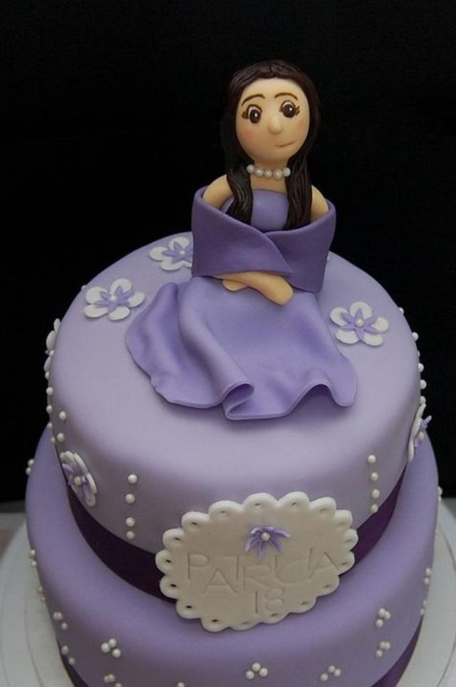 Shades of Purple -18th Birthday Cake