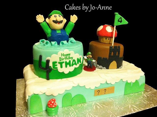 Cool Luigi Birthday Cake By Cakes By Jo Anne Cakesdecor Funny Birthday Cards Online Unhofree Goldxyz