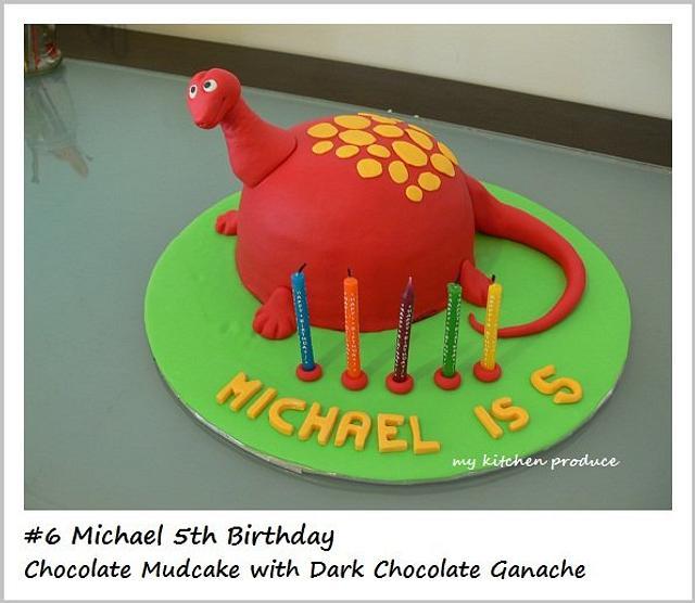 Red Dinosaur Cake