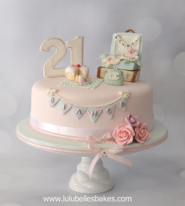 Stupendous 21St Travel Themed Birthday Cake Cake By Lulubelles Cakesdecor Funny Birthday Cards Online Alyptdamsfinfo