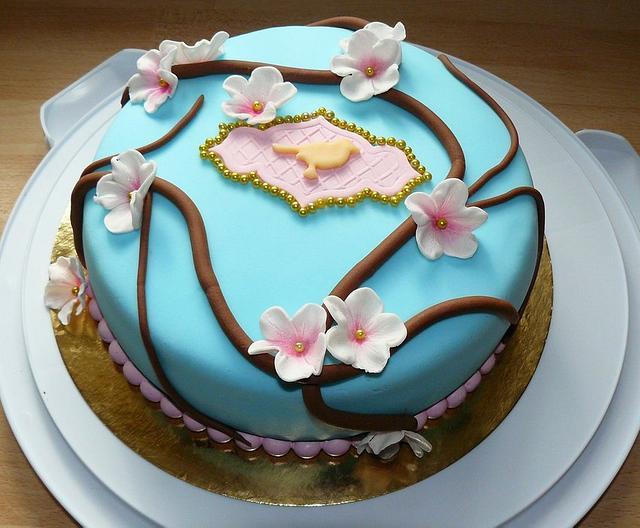 Astounding Bird Birthday Cake Cake By Brigitta Cakesdecor Personalised Birthday Cards Cominlily Jamesorg