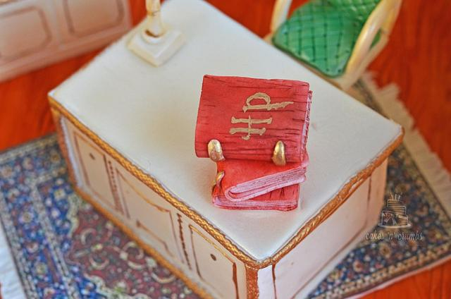 Miniature study room Cake
