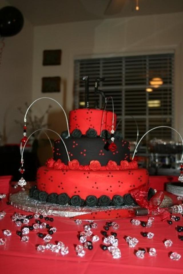 Enjoyable Sweet 15 Goth Birthday Cake Cake By Teresa Cakesdecor Funny Birthday Cards Online Aeocydamsfinfo