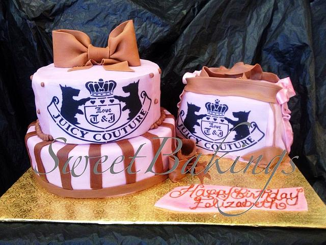 Juicy Couture cake with purse